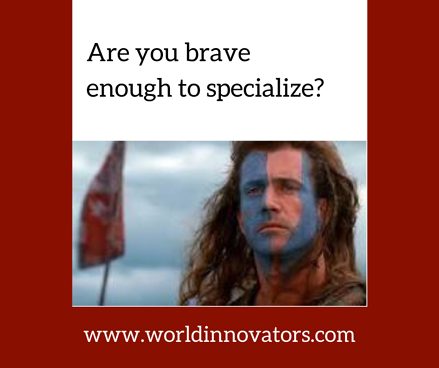 FB Are you brave enough to specialize