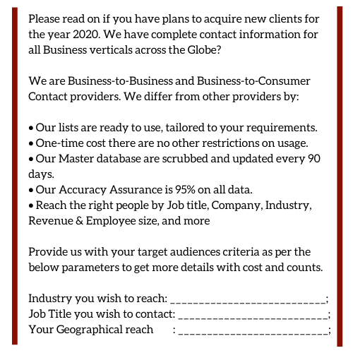 Bad compiled business email lists